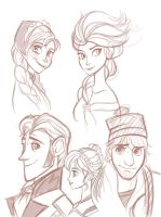 Frozen sketches by raptor007