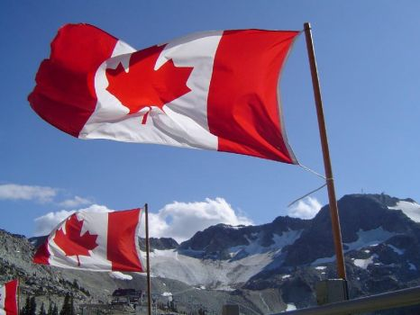 Canadian Flags Atop Whistler by TommyC2021