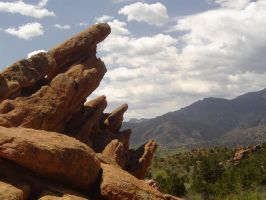 Garden of the Gods Rocks by DragonWhisperer1
