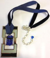 Doctor Who Framed TARDIS necklace by Lovelyruthie