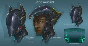 Nightclaw's Helmet by The-Nightclaw
