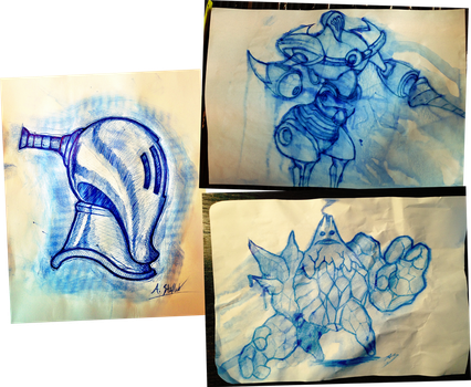 Ball Point Sketches by Alex-the-Irregular