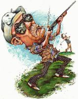 Hunter S Thompson Shotgun Golf by keithseidel