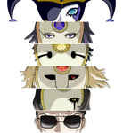 Persona 2 I.S. bosses 1 by PikeInverse