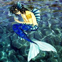 The Spirit Of Water (merman) by LedyRaven