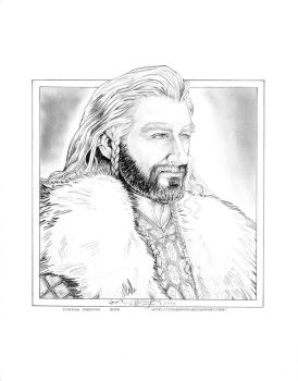 Quick Thorin Pencil Drawing by cfgriffith