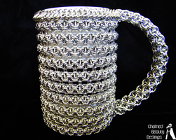 Chainmaille Mug no.2 by ChainedBeauty