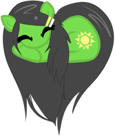 Summer Pony Heart Commis. 4/5 (normal hair) by KeyoshiStorm