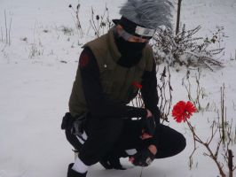 kakashi snow + flower 1 by e431