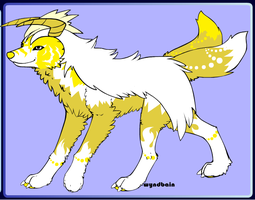 Goldenfur the Tiger Wolf by PiccoloFreakNamick