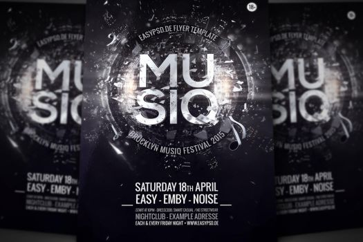 Musiq Flyer Template by pixelfrei