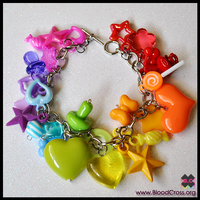 Rainbow Charm Bracelet by BloodCross