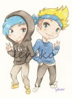Ardy and Taddl by leneko