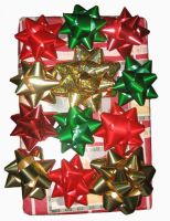 Christmas Bows by GreenEyezz-stock