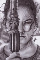 Rey Star Wars VII by YurieRiccoArtwork