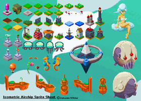 Airship SpriteSheet Updated by indie-illustrator