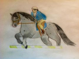 Blizzard with Sarah in Apollo stables show jumping by Flyingfetlocks