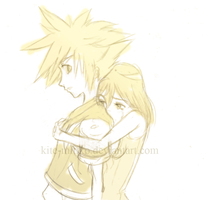 KH2: SoraKairi: Don't leave.. by Kite-Mitiko