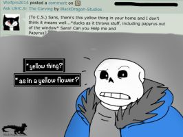 Ask C.S: Yellow Thing? by BlackDragon-Studios
