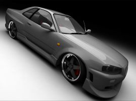 Nissan Skyline GT-R34 .silver. by Rookie-