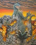 Godzilla Ignites the Sky by Legrandzilla