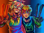 Selfie to party by xen1231