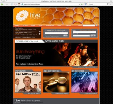 Hive Records Home Page by OBEY-OBEY