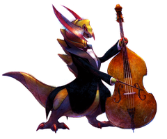 Presenting... Haxorus on the Bass! by JA-punkster