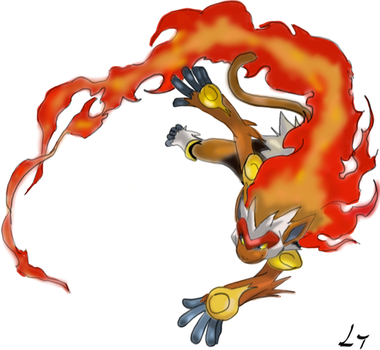 Fighting Infernal Monkey- Infernape by HenriBaz