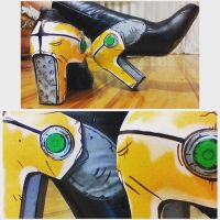 Sheriff's boots close up by Harusame-chan