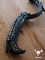 Skyrim Dwarven Black Bow of Fate - close-up (1) by Folkenstal