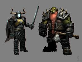Viking warriors by edsfox