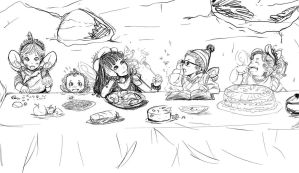 Fairy Dinner Party by Takumy