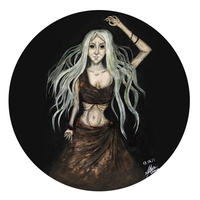Witch of the gray forest by MariAnrua