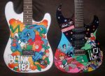 Blink 182 guitars by magaggie