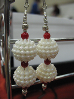 Snowy Ornament Holidy Earrings by sampdesigns