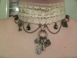 Victorian-Steampunk Choker by LadyMidnight81