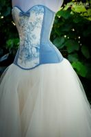Toile Du Jouy Overbust and Tulle Skirt by Trinitynavar