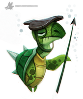 Daily Painting 757. Turtle Guard by Cryptid-Creations