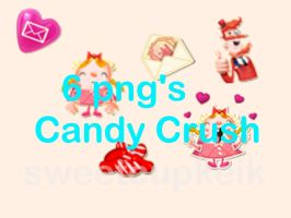 6 Png's Candy Crush by dulcepanquecito