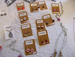 sweets earrings and necklaces by Katlynmanson