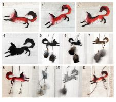 Foxes day - brooches and pendants for sale by hontor