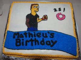 Simpsons cake by darklizard14