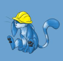 Tigrin with da hardhat by malta