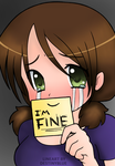I'M FINE Lineart (COLORED ONLY) by VampireGurl1