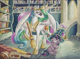Celestia's Apprentice by The-Wizard-of-Art