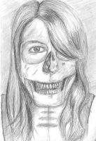 Skull self portrait by katys1996