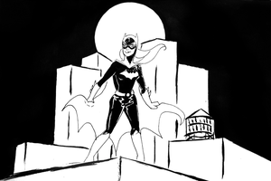 Batgirl Black and White by ma6
