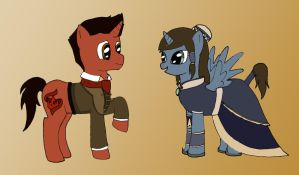 Korra and Mako Ponies: You Make Me Smile by DorkyPumpkin
