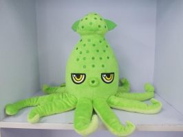 Sneek Peek- Archibald the Flying Squid Plush! by pinkplaidrobot